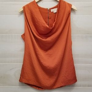 {10} Michael Kors Burnt Orange Silky Tank